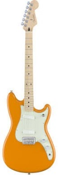 Fender 0144012582 Duo-Sonic, Maple Fingerboard, Capri Orange