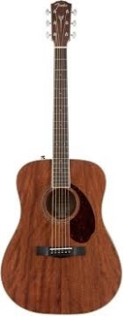 Fender 0960297221 PM-1 Dreadnought All Mahogany with Case, Natural