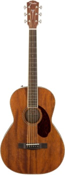 Fender 0960299221 PM-2 Parlor All Mahogany with Case, Natural